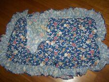 Ralph Lauren Jardin Blue Floral Ruffle King Size Pillow Sham