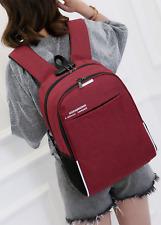 "Multifunction 16"" Laptop Men Women Backpack Canvas Anti-Theft Usb Charging Bag"