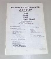 Owner's Manual Mitsubishi Galant E50 Air Conditioner Installation Manual 1993-96