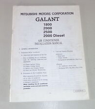 Owner's Manual Mitsubishi Galant E50 Air Conditioner Installation Manual 1993-96