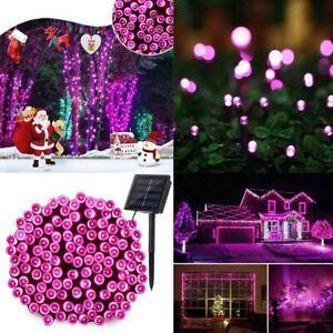 Outdoor Solar String Fairy Lights 12M Solar Lamp Waterproof Christmas Decor