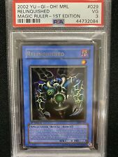 2002 Yugioh Magic Ruler 1st Edition Relinquished MRL-029 PSA 3