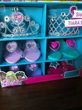 Barbie Shoes Tiara Dress Up Little Girl Princess Play Gift Set Storage Case