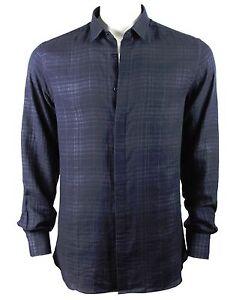 Neil Barrett check shirt navy
