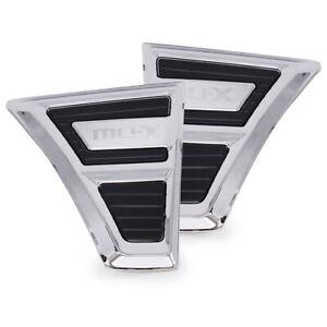 For Isuzu Mu-X SUV 2WD 4WD 2014 19 20 Chrome Black Door Side Vent Trim L + R