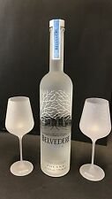 Belvedere Vodka Set 1,75l LED + 2 Belvedere Signature Glas Gläser 40%Vol NEU OVP