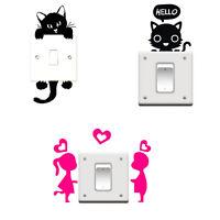 Stickers chat pour interrupteur, chambre d'enfant