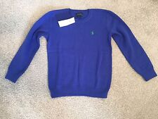 RALPH LAUREN BOYS BLUE THIN JUMPER  Size: 5 YEARS  *BNWT * RRP £85. *L@@K **
