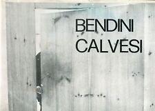BENDINI - Vasco Bendini. Testi di Maurizio Calvesi. Edizioni Lo spazio 1979