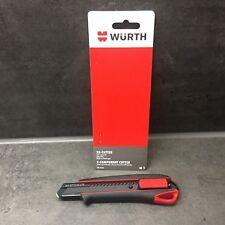 Würth 2K Cuttermesser 18mm extrem Scharf 071566275 Teppichmesser inkl 3 Klingen