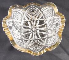 Vintage Glass US Glass Minnesota Nappy Antique EAPG, c.1898 States Pattern Bowl