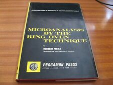 MICROANALYSIS BY THE RING OVEN TECHNIQUE BY HERBERT WEISZ 1ST ED HARDBACK