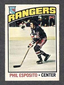 1976-77 PHIL ESPOSITO #245 VG-EX+ OPC NYR/Bos. HALL OF FAME Star NHL Hockey Card