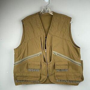 VINTAGE Gamehide Hunting Shooting Vest Jacket Mens Size M Brown Padded Adult