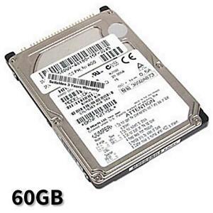 60GB Hard Drive Dell Latitude D400 D410 D500 D500D505 D505 D510 D600 D610 D800