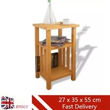 End Side Coffee Sofa Table With Magazine Book Shelf Laptop Lamp Desk Bedside UK