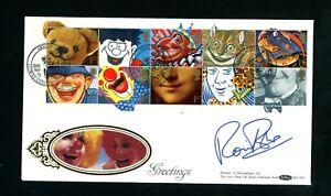 1991 Greetings, Benham Silk FDC, Signed