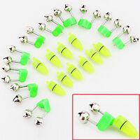 10PCS Night Fishing Clip Rod Tip LED Light Fish Bite Ring Alarm Bells