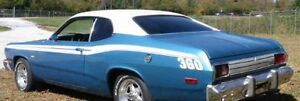 70 71 72 73 74  75 Plymouth Duster/Dodge Demon/Dart Sport WHITE Vinyl Top/Mopar