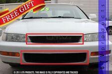 GTG 1994 - 1997 Honda Accord 2PC Gloss Black Combo Billet Grille Grill Kit