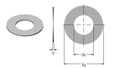 40x Stahl Passscheiben 5 mm Set Zentelscheiben DIN988 Passscheibe Shimscheiben