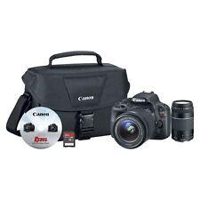 Canon Eos Rebel Sl1 18Mp Digital Slr Camera 18-55mm 75-300mm + Extra Bundle Kit