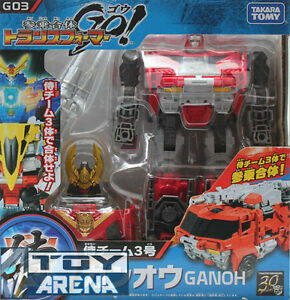 Transformers Go! G03 Ganoh Samurai Fire Truck Gan'ou Takara Beast Hunters