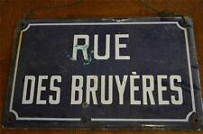 French vintage rue des bruyeres sign normandie France deco chic plaque
