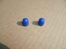 NEW BLUE VALVE CAPS X 2 PIT BIKE QUAD BIKE