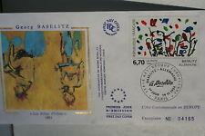 ENVELOPPE PREMIER JOUR SOIE - 1994 GEORGES BASELITZ