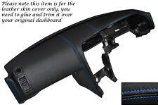BLUE STITCH DASH DASHBOARD LEATHER COVER FITS NISSAN SKYLINE GTS GTR R33 93-98