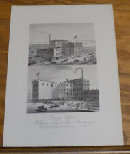 c1880 Antique COLOR Print///HELLGATE LAGER BEER BREWERY, NEW YORK