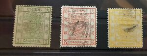 1897 Imperial China dragon Candarin set - unused and used as on the photos  (5)