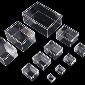 Square Cube Clear PC Small Boxes Storage Compartment Mini Box Plastic PC Box
