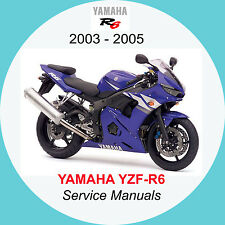 buy cd yzf yamaha motorcycle workshop manuals ebay rh ebay co uk 2005 yamaha r6 service manual 2007 R6
