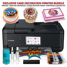Canon Cake Topper Image Printer, Edible Ink Cartridges, 12 Sugar Sheets Bundle