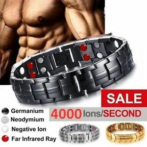 2020 New Men Titanium Steel Double Row  Fashion Bracelet for Wristband Jewe`YEU