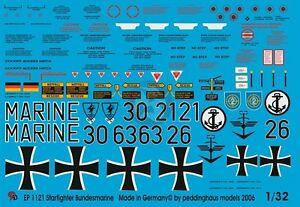 Peddinghaus 1/32 F-104 Starfighter Bundesmarine Modern German Navy Markings 1121