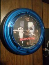 Myers neon clock blue Halloween