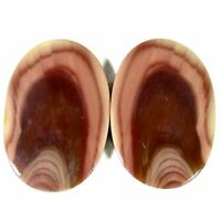 38.30Cts. 18X27X4mm. 100% Natural Imperial Jasper Oval Pair Cab Loose Gemstone