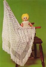 BABY SHAWL - 3ply  / flower motif  - COPY baby shawl crochet pattern