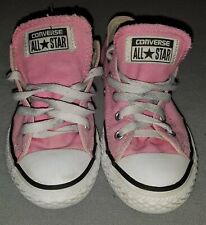 Girls Pink Size 13 Converse All Star Canvas Low Top Sneakers Shoes School Gym