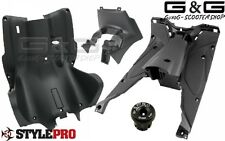 Kompletter Innenraum Verkleidung 5 Teilig Schwarz Matt Yamaha Aerox MBK Nitro