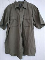 Red Head Redhead Men's Khaki 100 % Cotton Button Down Short Sleeve Shirt Sz 2XL