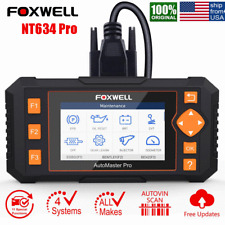 Foxwell NT634 ABS SRS Transmission EPB Oil OBD2 Scanner Car Diagnostic Scan Tool