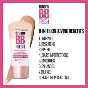 Maybelline Dream Fresh BB Cream 8-in-1 Beauty Balm ~ Choose Your Shade