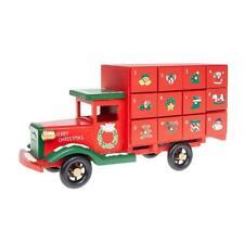 Wooden Red Christmas Advent Calendar Truck