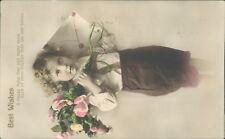 Birthday greetings floral Ettinger handcoloured