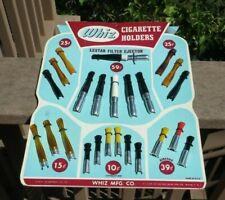Vintage 1950s WHIZ Cigarette holder display 24 holders