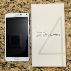 Used Samsung Galaxy Note 4 SM-N910T - 32GB - Frost White (T-Mobile) Smartphone